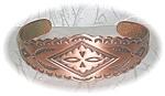 American Indian Dessolid Copper Cuff Bracelet