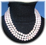 8mm Pink Freshwater Pearl 53 Inch Necklace