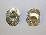 12k Gold Fill Patented Winard Circle Clip Earrings