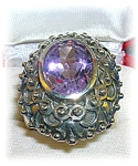 Sterling Silver 5ct Amethyst Ring India
