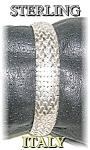 7 1/2 Inch Flexible Sterling Silver Italy Bra