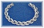 Silver Rope Twist Cuff Bracelet