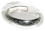 Heavy Handmade Sterling Silver Cuff Bracelet