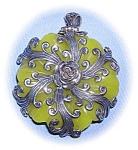 Sterling Silver Jade Pendant........