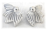 Sterling Silver Danecraft Leaf Clip Earrings