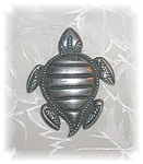 Silver Turtle Brooch Pin