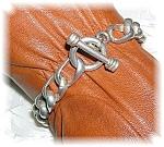 Sterling Silver Toggle Clasp Link Bracelet