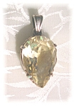 Sterling Silver Pear Shaped Lemon Citrine Pendant