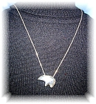 30 Inch Sterling Silver Chain An Bear Pendant
