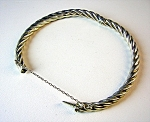 Sterling Silver Bracelet With Safety Chain