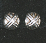 Sterling Silver Clip Earrings Signed Su