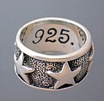 Sterling Silver Ex Ex 925 Stars Ring