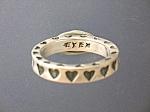 Sterling Silver Hearts Designer Ex Ex Ring