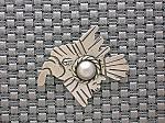 Taxco Mexican Serafin Moctezuma Silver Eagle Pin . . .