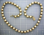 Taxco Mexico Sterling Silver 25 Inch Beads Mexico Neckl