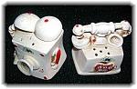 Ceramic Telephone Salt And Peppers.