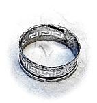 Napkin Ring Sterling Silver Hallmarked English 1932