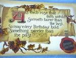 Very Old Birthday Post Card.