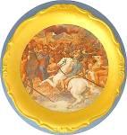 Porcelain Roman Scenic Plate Winterling Bavaria W/ Gold