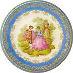 Limoges Porcelaine Plate Enlumine Main