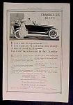 Chandler Six Automobile Car Ad
