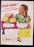 Borden's Hemo Chocolate Drink Ad - Elsie The Cow - 1952