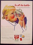 Carnation Unsweetened Evaporated Milk With Baby Ad - 1942