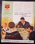 Campbell's Noodle With Chicken Soup Ad - 1934