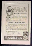 Campbell's Campbell Condensed Vegetable Soup Ad - 1917