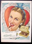 Whitman's Sampler Chocolates Candy Ad - 1945