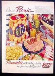 Nabisco Ritz Crackers Ad - 1951