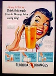 Florida Orange Juice Ad - 1951