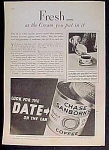 Chase And Sanborn's Coffee Ad - 1931