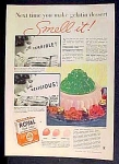 Royal Quick Setting Gelatin Dessert Ad - 1934