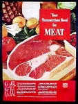 American Meat Institute Ad - 1947
