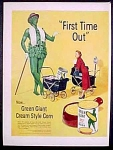 Jolly Green Giant Cream Style Corn Ad - 1952