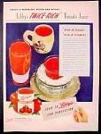 Libby's Twice Rich Tomato Juice Ad - 1946