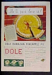 Dole Hawaiian Pineapple Ad - 1931