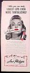 Louis Philippe Angelus Lipstick Ad - 1945