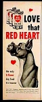 Red Heart Dog Food Ad - 1952