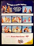 Brownie Movie Camera And Kodak Film Ad - 1952