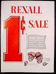 Rexall Drug Store 1 Cent Sale Ad With Amos And Andy - 1952