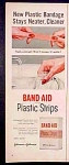 Band Aid Plastic Strips By Johnson & Johnson Ad - 1952