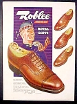 Roblee Royal Scots Shoes For Men Ad - 1947