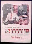 Van Heusen Deluxe Oxfordian Shirts For Men Ad - 1946