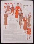 Ladies Fashion Layout Plate - 1936