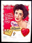 Whitman's Sampler Chocolate Ad - Elizabeth Taylor - 1952