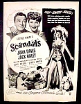 George White's Scandals Movie Ad - 1945