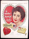 Whitman's Chocolates Ad With Elizabeth Taylor - 1953
