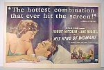His Kind Of Woman Movie Ad - Mitchum & Russell - 1951